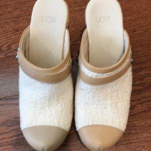 UGG high heel clog